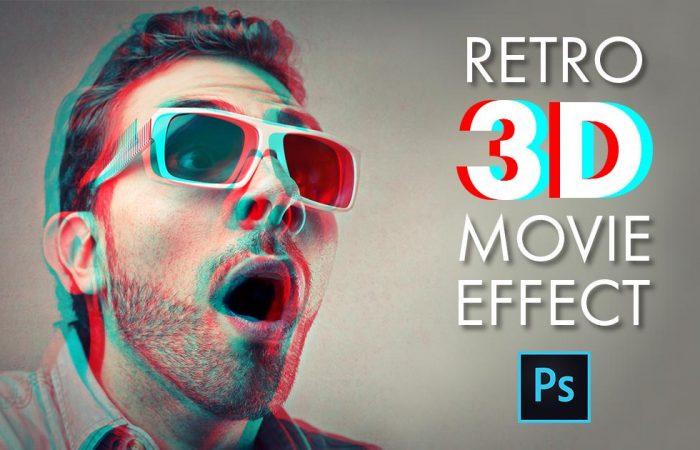 Easy Photoshop 3D Retro Movie Effect